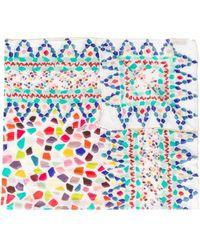 Missoni Schal mit geometrischem Print - Blau
