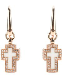 Gavello - Cross Diamond Earrings - Lyst