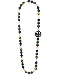 Tory Burch - Flat Beaded Necklace - Lyst
