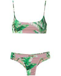 Amir Slama Bikini Set Met Print - Groen