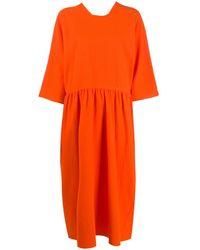 Sofie D'Hoore ドロップウエスト ドレス - オレンジ