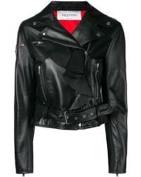 Valentino Love Story Biker Jacket - Black