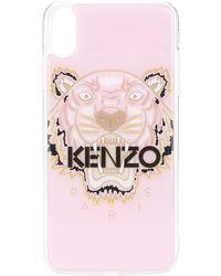 KENZO Iphone Xs Max Hoesje Met Tijgerprint - Roze