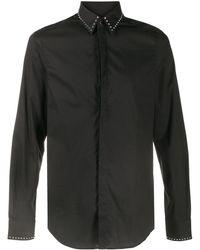Les Hommes ボタンアップ シャツ - ブラック