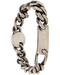 Werkstatt:münchen Small Plaque Bracelet - Metallic
