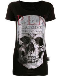 Philipp Plein ビジュースカル Tシャツ - ブラック