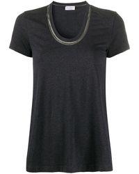 Brunello Cucinelli - Uネック Tシャツ - Lyst
