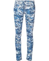 Off-White c/o Virgil Abloh Printed Skinny Jeans - Blue