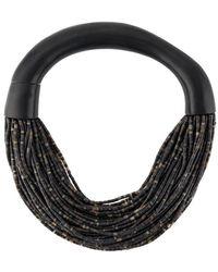Monies Mantova Beaded Necklace - Black
