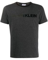 Calvin Klein T-shirt Met Logoprint - Grijs