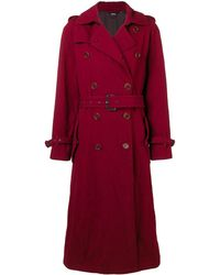 Aspesi Boxy Trench Coat - Красный