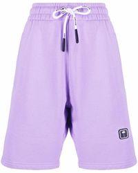 Palm Angels Logo-patch Track Shorts - Purple
