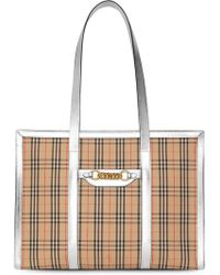 d3f4f7adea59 Burberry Small  canter In Horseferry Check  Tote Bag in Brown - Lyst