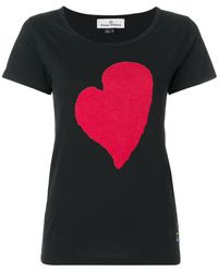 Vivienne Westwood Anglomania - Heart Print T-shirt - Lyst