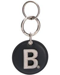 Balenciaga Logo Mirrored Keyring - Black