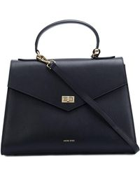 Anine Bing Strapped Top Handle Tote - Black