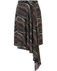 Sophie Theallet - Leaf Print Zipped Skirt - Lyst