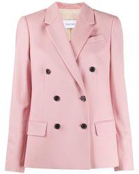 Calvin Klein Двубортный Блейзер - Розовый