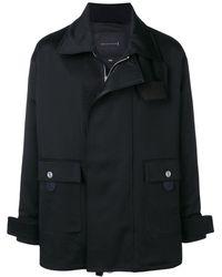 Mackintosh 0004 Black Cotton 0004 Fireman Coat