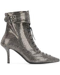 Philosophy Di Lorenzo Serafini Rhinestone Lace-up Boots - Metallic