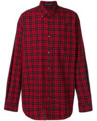 Balenciaga - Bal Plaid Button Down Shirt - Lyst