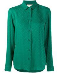Gucci GG Jacquard Shirt - Green