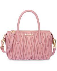 Miu Miu - Matelassé Handbag - Lyst