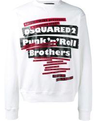 DSquared² 'Punk'n'Roll Brothers' Sweatshirt - Weiß