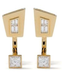 Stephen Webster 18kt Yellow Gold Dynamite Diamond Stud Earrings - Metallic