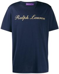 Ralph Lauren Purple Label ロゴ Tシャツ - ブルー