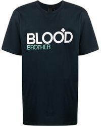 Blood Brother Trademark Tシャツ - ブルー