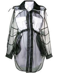Maison Margiela フーデッド シャツドレス - ブラック