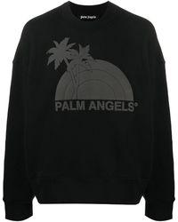 Palm Angels Sweat à imprimé graphique - Noir