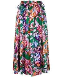 KENZO - Paisley Print Skirt - Lyst