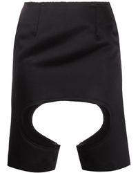 Comme des Garçons カットディテール スカート - ブラック