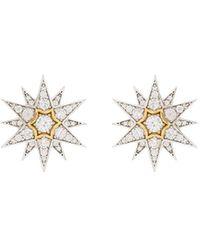APPLES & FIGS Celestial スターピアス 24kイエローゴールド - マルチカラー