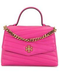 Tory Burch Bolso satchel Kira acolchado - Rosa