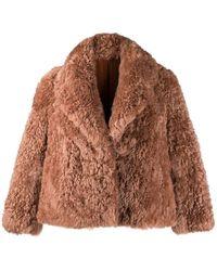 Liska オーバーサイズ ファージャケット - ブラウン