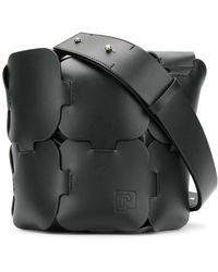 Paco Rabanne - Interwoven Panel Bucket Bag - Lyst