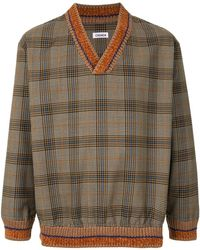 Coohem Prince Of Wales Check Top - Brown