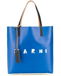 Marni ロゴ ハンドバッグ - ブルー