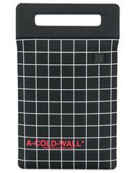 A_COLD_WALL* * ブラック グリッド オーバーロック タブレット トート