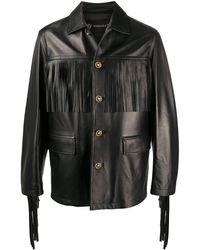 Versace Fringed Jacket - Black