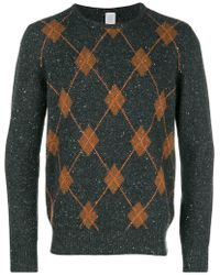 Eleventy - Cashmere Argyle Pattern Sweater - Lyst