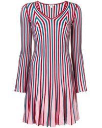 KENZO - Striped Ribbed Dress - Lyst