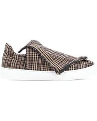 Ports 1961 - Foldover Plaid Slip-on Sneakers - Lyst