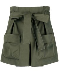 RED Valentino Belted Cargo Shorts - Green