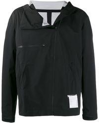 Satisfy レイヤード ランニングジャケット - ブラック