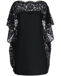 Valentino ケープスタイル ドレス - ブラック