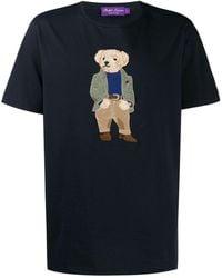 Ralph Lauren Purple Label ロゴエンブロイダリー Tシャツ - ブルー